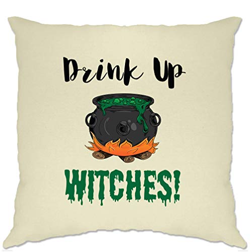 Tim And Ted Halloween Cushion Cover Drink Up, Witches Cauldron Natural One Size