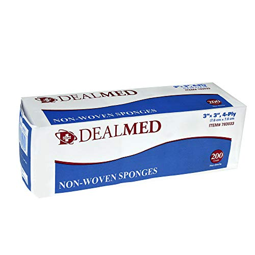 - Dealmed Gauze Pads, Non-Sterile, Non Woven, 3