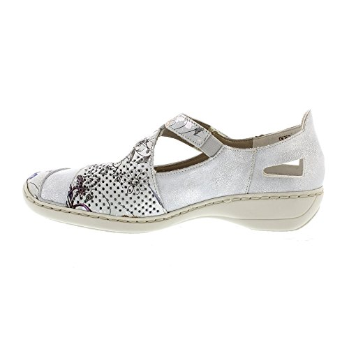 Rieker Roya Damen Mary Jane Schuhe White