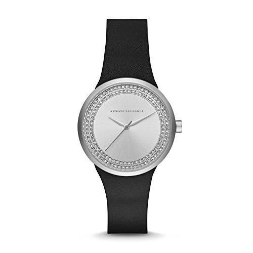 Armani Exchange Women's AX6011 Black  Leather Watch (Armani Exchange Ladies Watches)