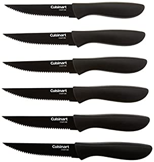 Cuisinart C55-6PCSBK Advantage Color Collection 6-Piece Ceramic Coated Steak Knife Set, Black (B00W4ADARE) | Amazon price tracker / tracking, Amazon price history charts, Amazon price watches, Amazon price drop alerts