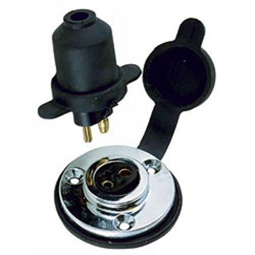 Perko 1189DP0CHR Watertight Deck Connection - Chrome Plated Brass