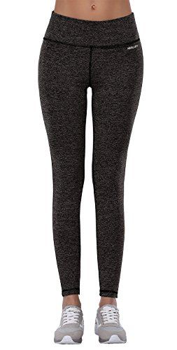 Aenlley Women's Activewear Yoga Pants High Rise Workout Gym Spanx Tights leggings Color BlackGrey+DarkGrey Size M