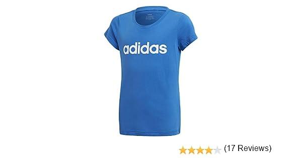adidas YG E Lin tee Camiseta, Niñas, Azul/Blanco, 170 (14/15 Años): Amazon.es: Deportes y aire libre