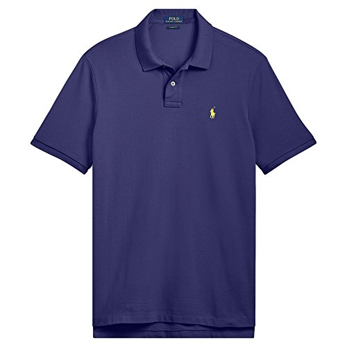 Polo Ralph Lauren Mens Big & Tall Big Tall Weathered Mesh Polo Shirt (4X Big, Fall Royal) ()