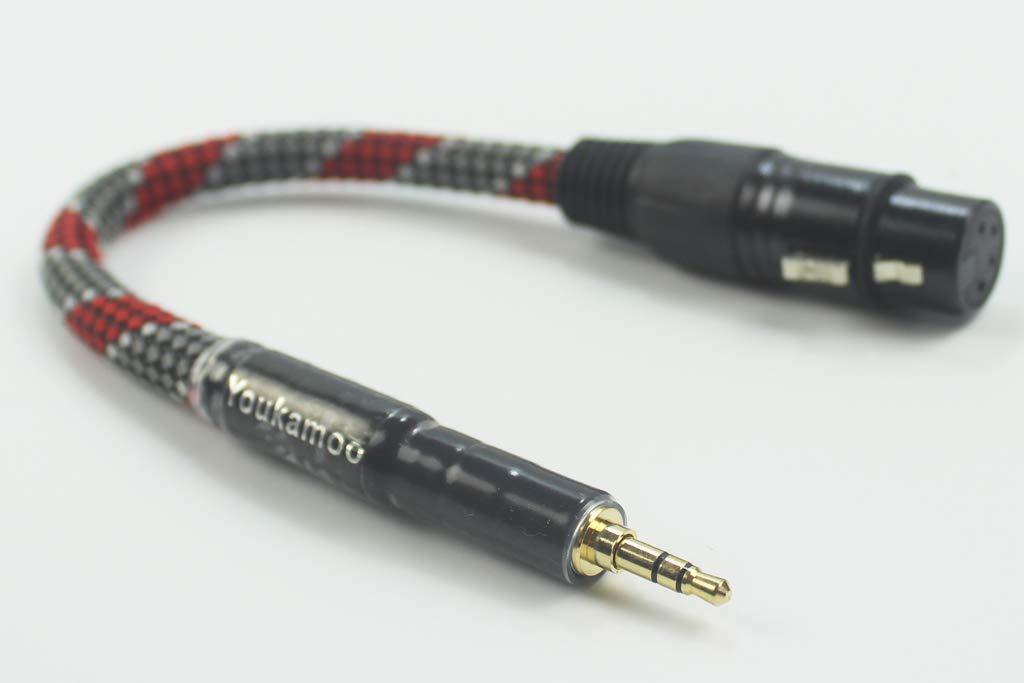3.5mmから4ピンXLRメスバランスヘッドホンオーディオヘッドホンアダプターケーブル 50cm。   B07KR5N15H