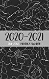 """2020-2021 two year monthly planner: calendar pocket monthly planner ( 5 x 8 """" small size ) : 24 month : January 2020 - December 2021 : time management ... : romantic flower (2020-2021 pocket calendar)"""