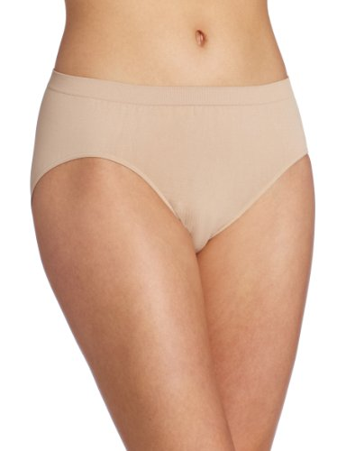 New Black Ruffle - Bali Women's Comfort Revolution Hipster Panty, Nude, 6/7