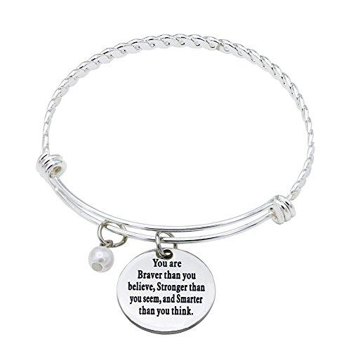 O.RIYA You Are Braver Than You Believed Bracelet (Twist-Bangle)