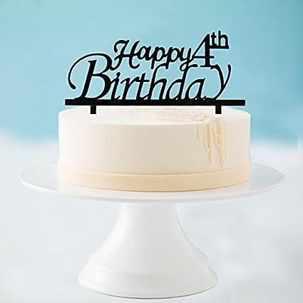 Amazon Happy 4th Birthday Cake Topper