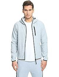 Machine Men's Long Sleeve Zip up Hoodies - Lightweight Hooded Sweater