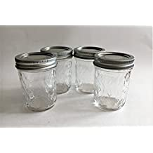 Mason Ball Jelly Jars-8 oz. each - Quilted Crystal Style-Set of 4