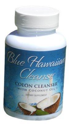 Blue Hawaiian Cleanse - Colon Cleanser avec l'huile de coco - 60 vcaps | Professionnel Formula Force améliorée avec Senna, le lin, le psyllium, le gingembre et Black Walnut | Supprime intestinale Plaque avec léger effet laxatif