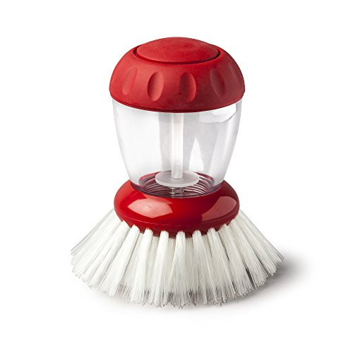 Zeal Dispensing Dish Brush, Red, One Size