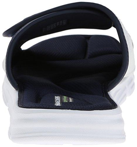 Skechers Sport Vent Diapositive Swell Sandal, White/navy, 45