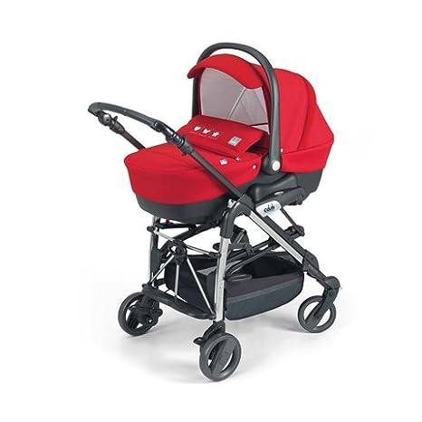 CAM Il Mondo del Bambino - Cochecito Comby Family, art. 845015 rojo Rosso 1/T290: Amazon.es: Bebé