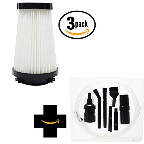 3-pack Replacement F2 HEPA Filter for Dirt Devil - Compatibl