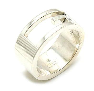 4f76e5ca9798 Amazon | [グッチ] GUCCI ブランデッド Gリング オープンGリング Gロゴリング 指輪 SV925 シルバー 8号 #8 |  スタンダードリング 通販