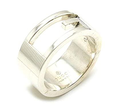 3dd88b94916f Amazon | [グッチ] GUCCI ブランデッド Gリング オープンGリング Gロゴリング 指輪 SV925 シルバー 8号 #8 |  スタンダードリング 通販