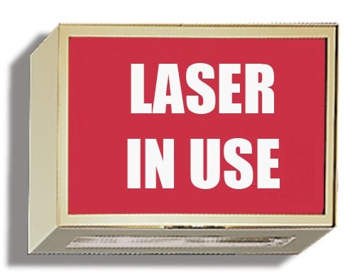 Illuminated Darkroom/Viewing Door Sign - Laser