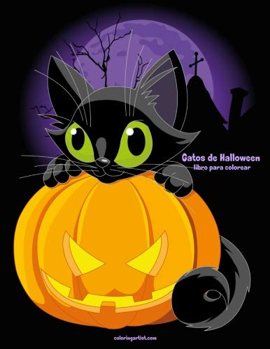 Gatos de Halloween libro para colorear 1 (Volume 1) (Spanish Edition) -