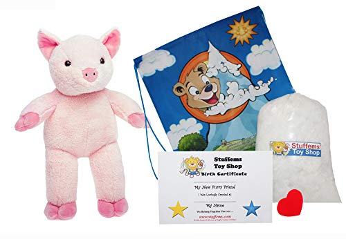 Make Your Own Stuffed Animal Cuddly Pig Kit 16
