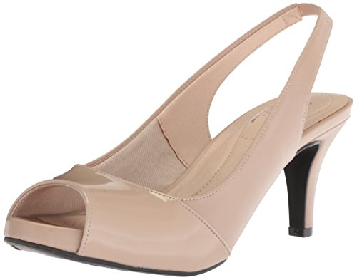 LifeStride Women's Tannis Pump, Taupe, 8 W US Wide Dress Pumps