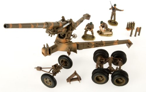 21st Century Toys Vehicles (WWII 8-Inch Howitzer Emplacement 1:32 Scale Diorama: Camouflaged Gun)