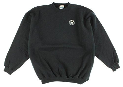Felpa da uomo girocollo pullover nero M