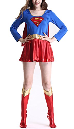 YISABELL DC Secret Wishes Super Heroes Supergirl Halloween Costume (Super Girl Costume)