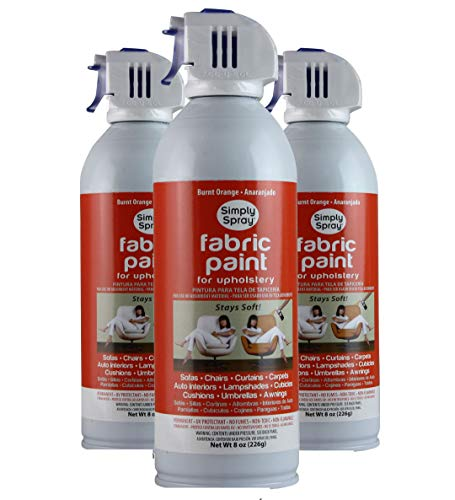 Simply Spray Upholstery Fabric Spray Paint 8 Oz. Can 3 Pack Burnt ()