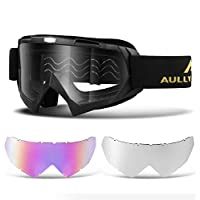 AULLY PARK Motorcycle Motocross Goggles ATV Racing...