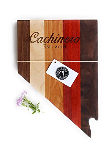 - Nevada Cutting Board Engraved Wood Wall Art Las Vegas Personalized Wedding Gift Anniversary Custom Wood Sign For Him For Her Casino Handmade in USA