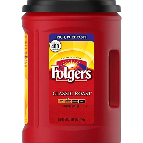 2-pack Folgers Classic Roast Ground Coffee (51 Oz X 2)