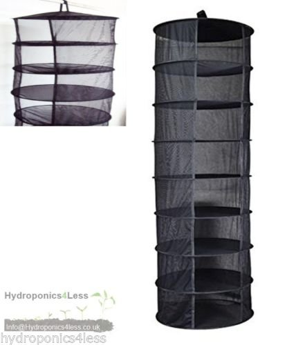 Hanging Dry Rack 8 Tier Hydroponic Grow Tent Herb Bud Plant Clothes Drying Net hydroponics4less