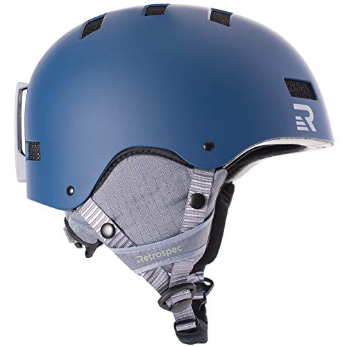 Retrospec Traverse H1 2-in-1 Convertible Helmet with 10 Vents, Matte Midnight, Medium (55-59cm) (Shock Foam Absorbent Padding)