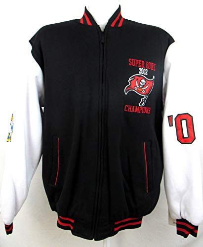 A-Team Apparel Mens Tampa Bay Buccaneers 2002 Super Bowl Champions Full Zip Jacket, Size Medium ()