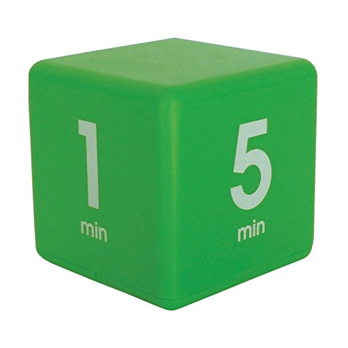 The Miracle TimeCube Timer, 1, 5, 10 and 15 Minutes, for Time Management, Kitchen Timer, Kids Timer, Workout Timer, (Egg Timer 10 Minutes)