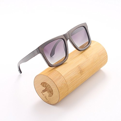Wood Fans sunglasses, UV400 polarized lens sunglasses, Black walnut wooden sunglasses, color wooden craft gift - Roundglasses