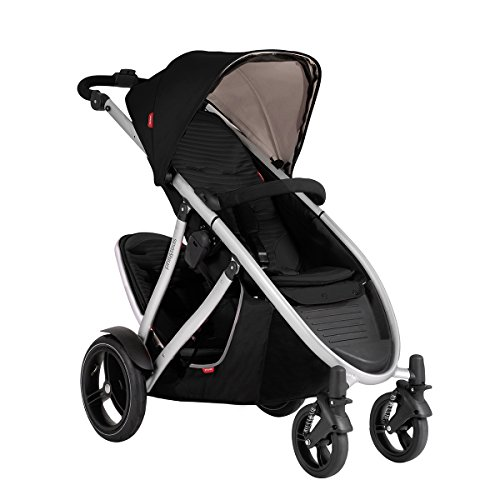 Phil and Teds Verve V3 Stroller With Doubles Kit (Black) by phil&teds