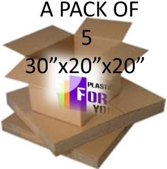 Cajas de cartón grandes destitución - paquete de 5 - 30-inch x 50,8 cm x 50,8 cm - de doble pared 761 mm x 508 mm