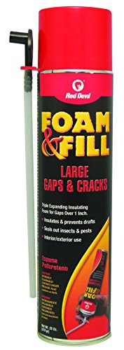- Red Devil 0912 Foam & Fill Large Gaps & Cracks Expanding Polyurethane Foam Sealant, 20 oz, Off White