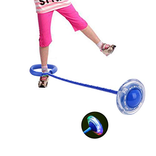 Alotm 1 PCS LED Light up Jump Rope for Kids Flashing Colorful Ankle Skipping Rope Ball Fun Light Up Toy for Kids, Boys and Girls, -