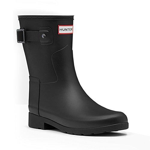 Hunter Womens Original Refined Short Wellingtons Snow Rain Winter Boots - Black - 10 by Hunter