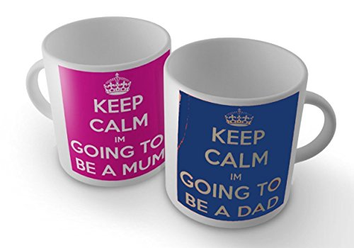 Keep-Calm-Im-Going-to-be-a-DADMUM-Set-of-Two-Mug-Cup-by-GrassVillageTM