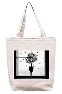 La magia de la ventana de la lona del algodón - bolso de mano