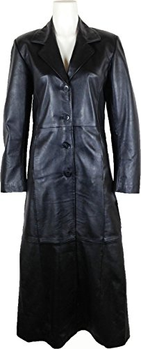 UNICORN Womens Full Length Trench Coat Real Leather Jacke...