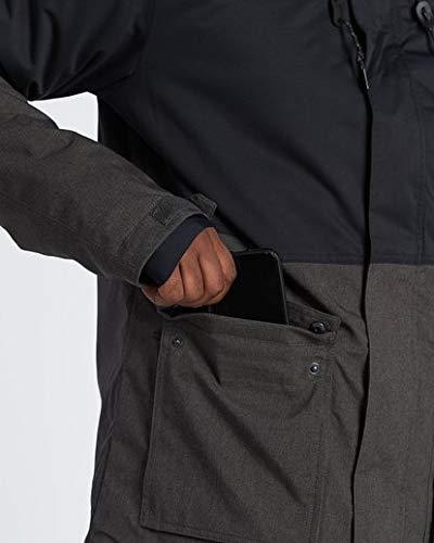 Billabong Men's Fifty 50 Snow Jacket Iron Heather Small