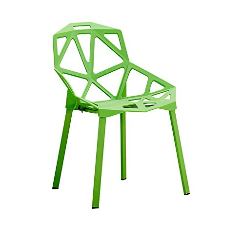 Xin-stool Chairs/Household Simple Plastic Stools/Individual tea shop tables/chairs/European dining table/chair/Creative lounge chair/Fashion stool/465581cm (Color : Green) by Xin-stool (Image #7)'