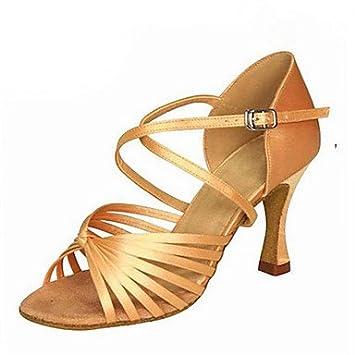62d40ac8 Misteriosa Directa @ de la Mujer Satén Zapatos de Baile Latina Salsa Zapatos  de Jazz Swing